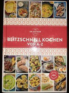 Blitzschnell Kochen von A-Z, German language Quick & healthy cookbook Like New