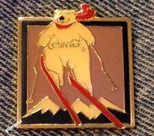 1994 Coke Polar Bear Olympic Pin~Lillehammer~Sponsor~Coca Cola~Super-G