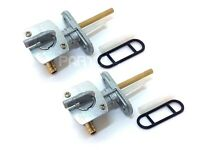 (2-Pack) KLR 650 Motorcycle Petcock Assembly Fuel Valve Gas Shutoff
