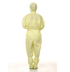 Unisex Anti Static Working Overalls Dust Free Clean Room ESD Hooded Jumpsuits