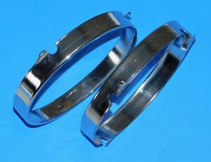 1966-69 Mercedes-Benz 230S OEM Headlight Headlamp Bulb Retainer Ring - 2pcs.