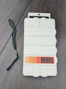 Rare Vintage REBEL 308 Fishing Lure Handheld Tackle Box - 8 Compartments EX
