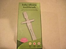 Green Sprouts Silicone Baby Toothbrush (3 - 12 Months) New in Box PVC BPA Free
