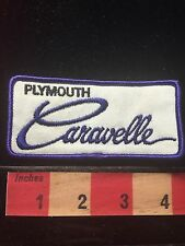 Vtg PLYMOUTH CARAVELLE Car Auto Brand Logo Patch 69BB