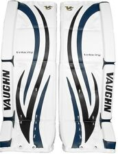 New Vaughn 7490i ice hockey goalie goal 29+1.5 leg pads intermediate black/blue