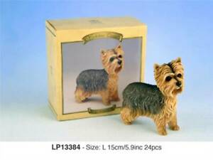 Yorkshire Terrier Ornament Ceramic Dog Decoration Hand Painted