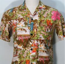 New listing Vintage 1950s Hawaiian Originals Honolulu Stan Hicks Tiki God Beach Shirt Small