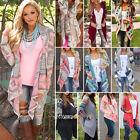 Women's Boho Tribal Waterfall Cardigan Autumn Wrap Coat Cape Jacket Outwear Tops