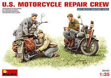 MiniArt Models 1/35 US Motorcycle Repair Crew (2 Motorcycles + 3 figures)