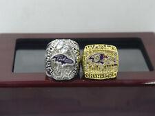 2PCs 2000 2012 Baltimore Ravens World Championship Ring !