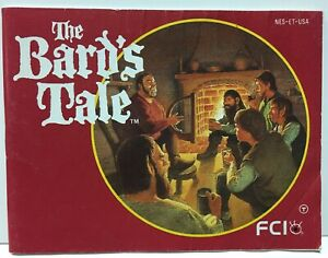 The Bard's Tale Instruction Booklet Manual Only for Nintendo NES NTSC Bards Bard