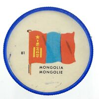 Vintage Mongolia Number 81 General Mills Premium Coin Flags Of The World M967