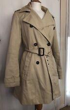 ASOS Size 14 Beige Smart Autumn Blogger Sherlock Long Sleeve Work Trench Coat