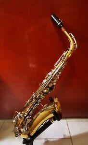 Vintage Saxophon Buescher Aristocrat Alt mit Original-Koffer.