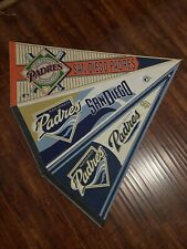 Lot Of 3  Full Size Pennants Wincraft San Diego Padres