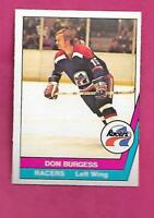 RARE 1977-78 OPC WHA # 66 RACERS DON BURGESS NRMT CARD  (INV# C0630)