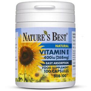 Vitamin E 400iu - 100 Vegan Capsules – Naturally Sourced & UK Made