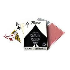 Jeu de Cartes Fournier Poker 100 % Plastique 2 Index Jumbo Numéro 2800 Rouge