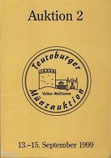 Teutoburger Münzauktion Wolframm Auktionskatalog 2 1999 Münzen Medaillen Orden