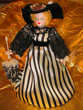 Royal Doulton Nisbet Heirloom Doll - Ascot Black and White Dress - with tag