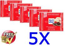 5x Ritter Sport @ Dark Chocolate with Marzipan @ 5x 100g/3.5oz - Best Deal