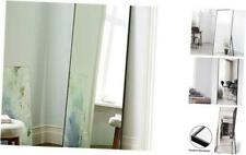 Full Length Mirror Floor Mirror with Standing Holder Bedroom/Locker Room Black