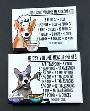 Australian Cattle Dog Heeler Measuring Magnets Kitchen Baking and Cooking Charts