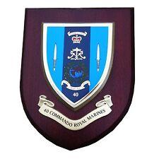 40 Commando Royal Marines Military Shield Wall Plaque