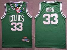 Men's Boston Celtics Larry Bird Retro Basketball jersey Green S-M-L UK STOCK