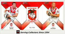 2011 Select NRL Strike Trading Cards Base Team Set St. George Dragons (12)