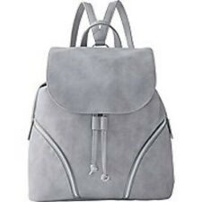 ULTA Beauty Gray Backpack Bag Purse Faux Leather Drawstring Magnetic Silver