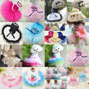 Small Pet Dog Cat Puppy Tutu Lace Dress Ballet Skirt Princess Apparel Clothes*