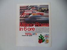 advertising Pubblicità 1971 OLIO TOTAL GTS