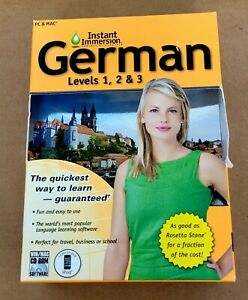 Topics Entertainment Instant Immersion German Levels 1,2 & 3 for Windows, Mac 8…