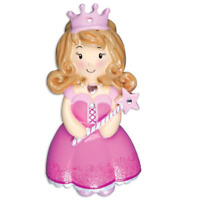 Princess Girl In Pink Dress Personalized Christmas Ornament-Beauty Contest