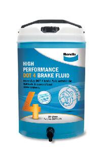 Bendix High Performance Brake Fluid DOT 4 20L BBF4-20L fits Ford Escort 1.1, ...