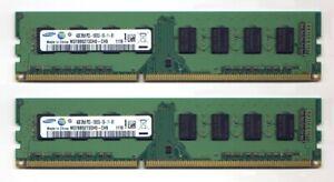 8 GB (2x 4 GB)  DDR3 RAM 1333 MHz von Samsung, beidseitig bestückt, getestet