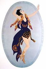 Erte 1987 BACCHANTE PRIESTESS of BACCHUS GREEK MYTHOLOGY Art Deco Matted Print