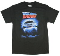 Back To The Future Men's Delorean In Flight Poster T-Shirt