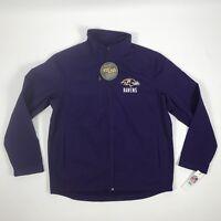 Men's Baltimore Ravens Jacket Sideline Soft Shell Zip Up Jacket Size Large NFL