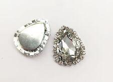 1 x Bicchiere Di Cristallo Goccia Diamante Strass Matrimonio Topper Stick Pearl