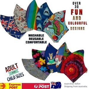 Face Mask Cloth Unisex Reusable/Washable Handmade Adult & kids sizes