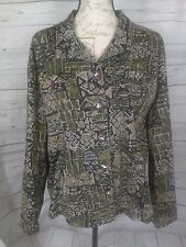 Additions by Chico's Women's Multi-Color Long Sleeve Top Jacket Size 3 B5/170