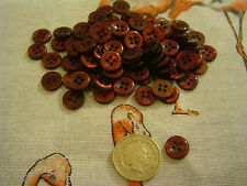 200 Maroon 4 hole buttons 10mm Sewing Craft Card Scrapbook