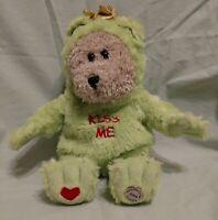 "VTG 2004 Starbucks 11"" Bearista Bear Plush In Valentine's Day Kiss Me Frog Princ"