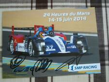 Oreca SMP RACING #37 signed all drivers 24 heures Le Mans 2014 Card wec