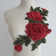 Collar Flower Sequin Embroidered Applique Trim Lace Dress Neckline Sewing Craft