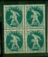 Bayern, Abschiedsserie Sämann Nr.185  postfrisch ** Viererblock PF. I