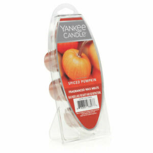 NEW Yankee Candle Spiced Pumpkin Fragranced wax melts 2.6oz 6 cubes fresh