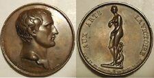 Medaglia Napoleone Bonaparte visita al museo del Louvre 1803
